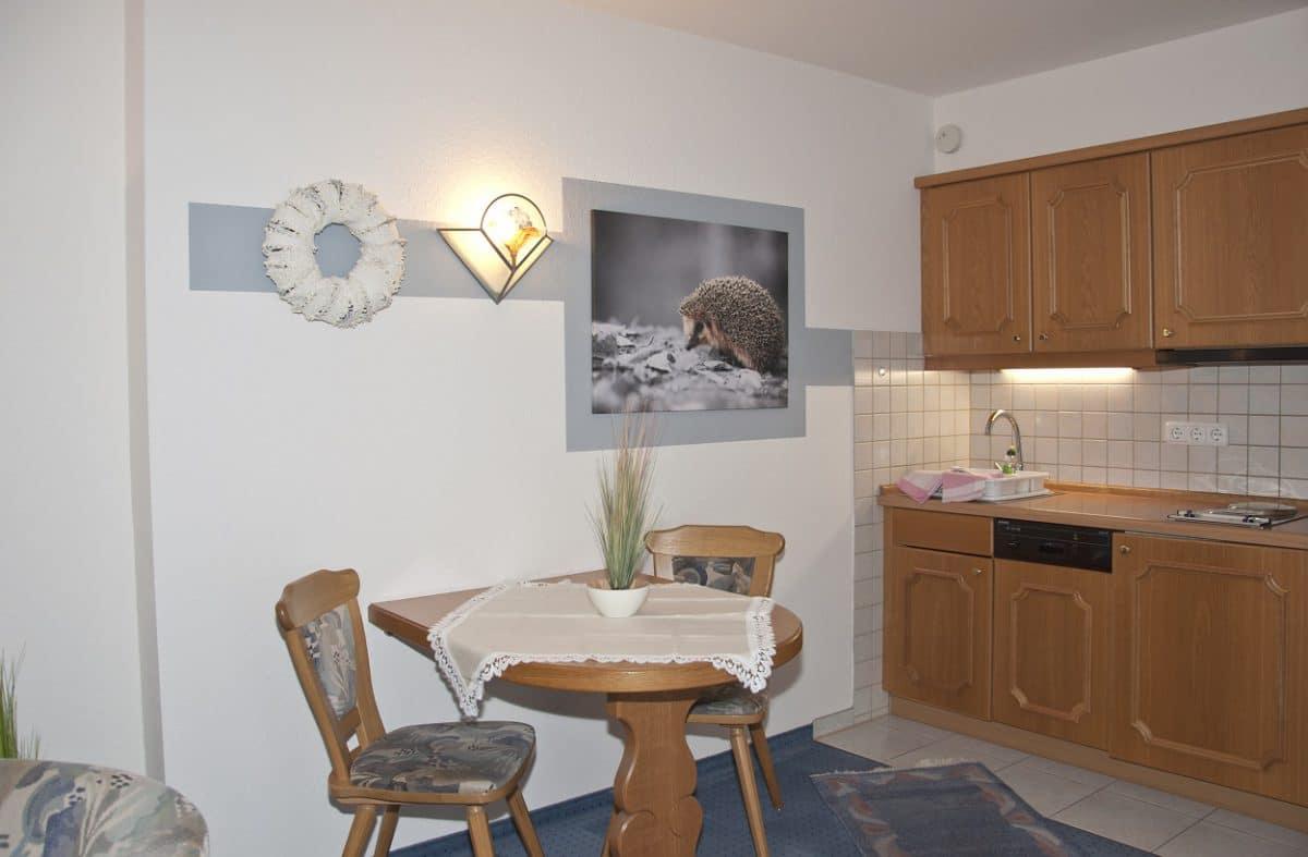 Wohn-Küche Ferienwohnung Igel Lodge | Landhaus Barbara