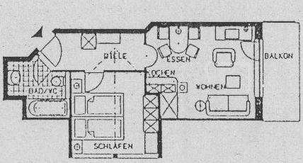Grundriss Ferienwohnung Schumpen | Landhaus Barbara
