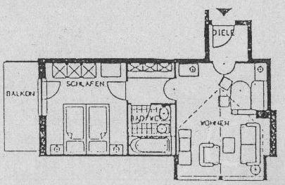 Grundriss Ferienwohnung Rehbock | Landhaus Barbara